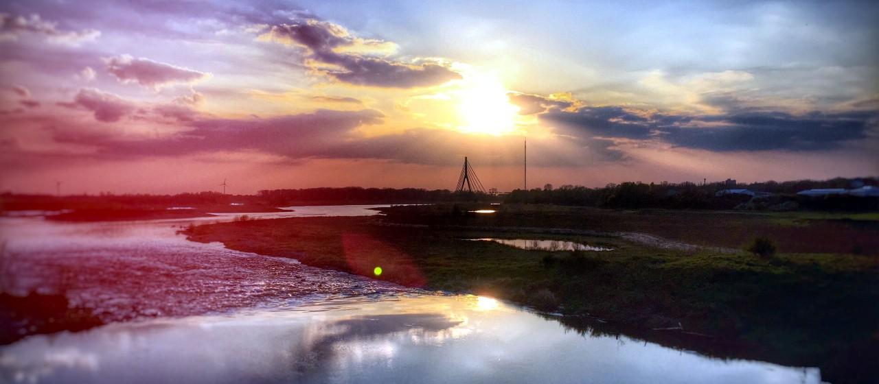 Das Lippe-Delta mit Niederrheinbrücke